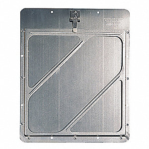 "12"" x 1/2"" Class 3 Aluminum Placard Holder, Silver"