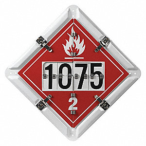 "14"" x 1"" Class 2 Aluminum Vehicle Placard, Multiple"
