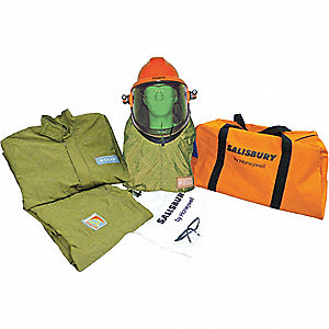40.0 cal./cm2 Arc Flash Protection, 4-HRC, Green, 3XL