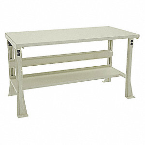 "Workbench, Steel, 30"" Depth, 32"" Height, 60"" Width, 2500 lb. Load Capacity"