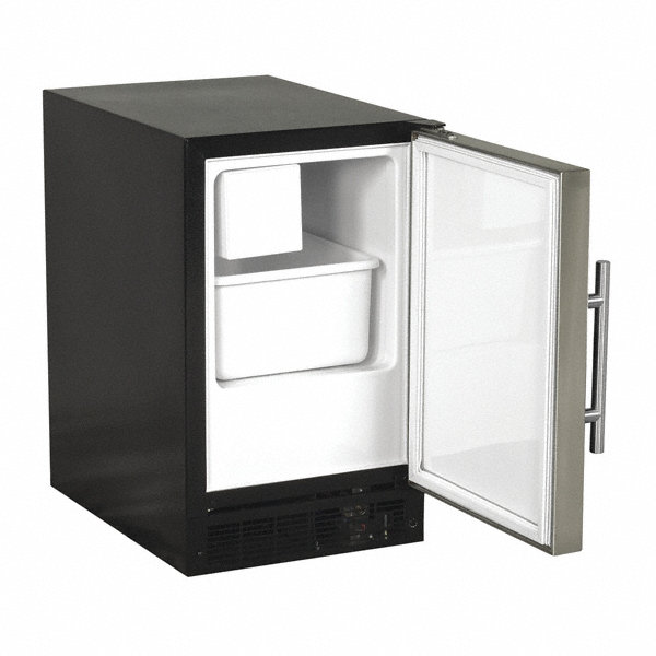 marvel 115v crescent countertop ice machine  stainless