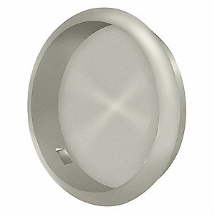 "Flush Pull, Satin Nickel, 2-1/2"" L"