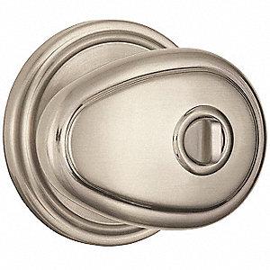 Light Duty Privacy Lindingham Series Knob Lockset, Satin Nickel Finish