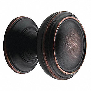 Cabinet Knob, Round, Oil Rubbed Bronze