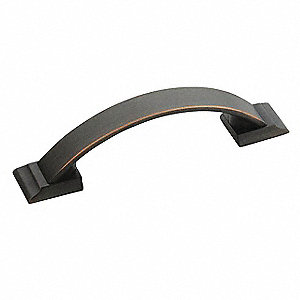 Zinc Pull Handle with Oil Rubbed Bronze Finish, Brown; Hardware Included