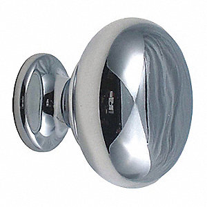Cabinet Knob, Round, Bright Chrome
