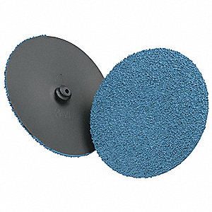 "2"" Coated Quick Change Disc, TR Roll-On/Off Type 3, 24, Extra Coarse, Ceramic, 1 EA"