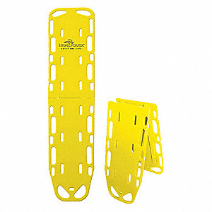Folding Spineboard,Yellow,Looped End