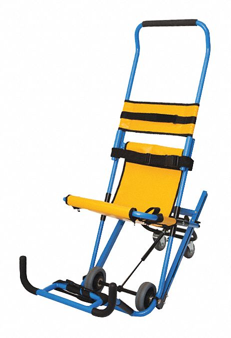 Aluminum Stair Chair with 500 lb Weight Capacity, Blue/Yellow