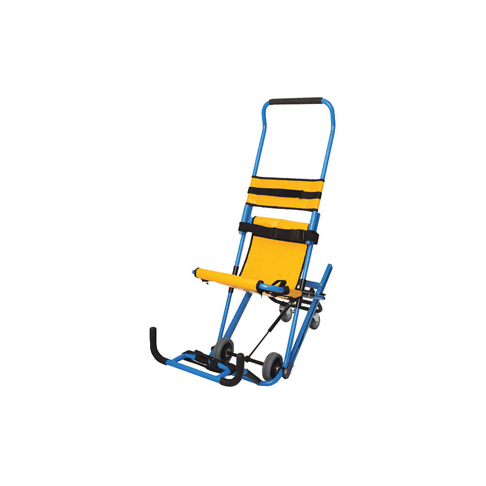 Stupendous Aluminum Stair Chair With 500 Lb Weight Capacity Blue Yellow Dailytribune Chair Design For Home Dailytribuneorg