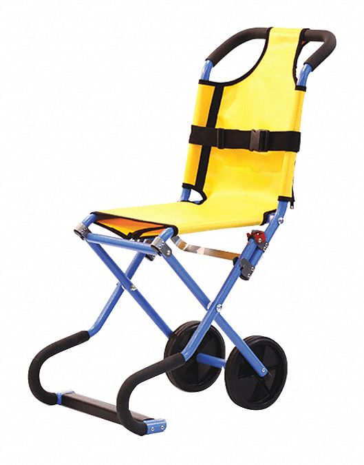 Aluminum Stair Chair with 440 lb Weight Capacity, Blue/Yellow