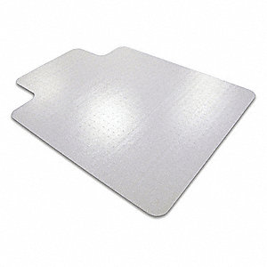 "Traditional Lip Chair Mat, Clear, For Carpet with Padding Up to 1"" Thick"