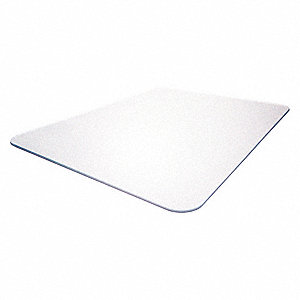 Rectangular Chair Mat, Clear, For Laminate, Wood, Tile, Concrete and other Hard Surfaces
