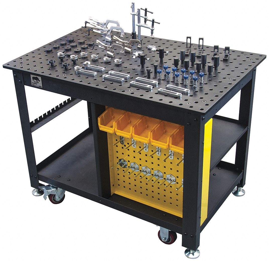 "Portable Welding Table, 48""W Work Surface"