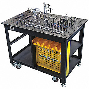 Rhino cart portable welding table 48 w work surface for Solidworks design table zoom