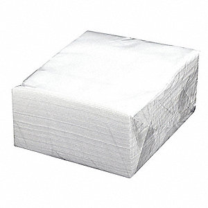 "Spunlace Disposable Wipes, 50 Ct. 15"" x 17"" Sheets, White"