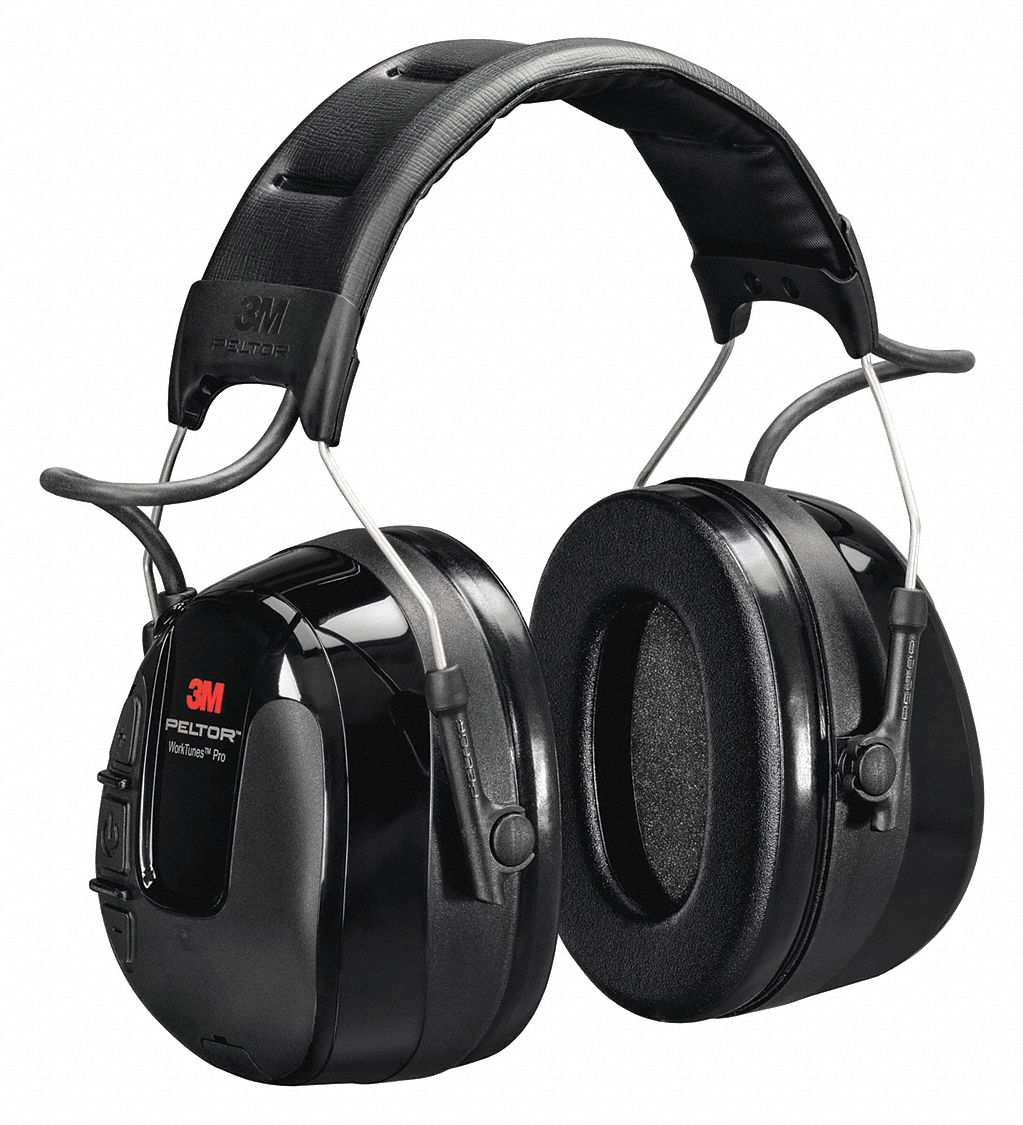 Over-the-Head Electronic Ear Muffs,  26 dB Noise Reduction Rating NRR,  Dielectric No,  Black