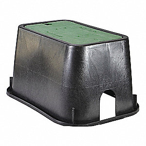 19 1/4 in x 13 3/8 in x 10 1/4 in Rectangular Valve Box