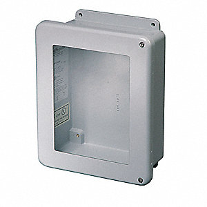 "16""H x 14""W x 6""D Non-Metallic Enclosure, Light Gray, Knockouts: No, Screws Closure Method"