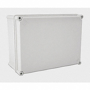 "14""H x 10""W x 6""D Non-Metallic Enclosure, Light Gray, Knockouts: No, Screws Closure Method"