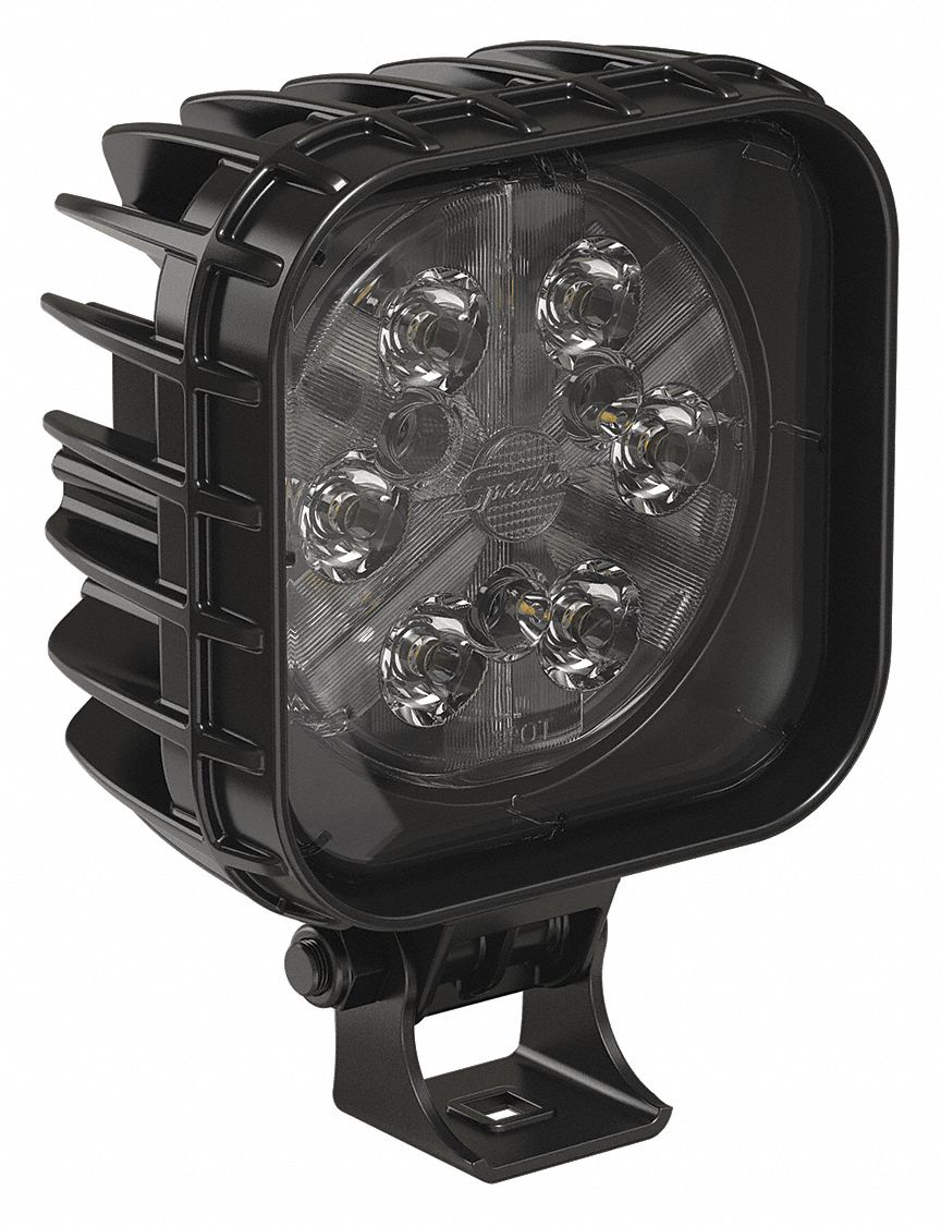 "Flood Light, 3900 lm, Square, LED, 6"" H"