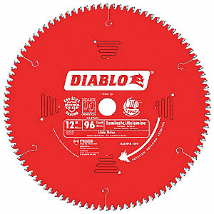 "12"" Carbide Metal Cutting Circular Saw Blade, Number of Teeth: 96"