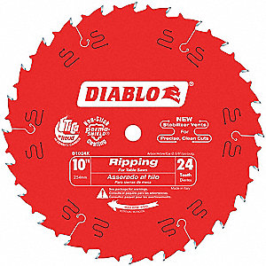 "Circ. Saw Blade,10"" Blade Dia.,24 Teeth"