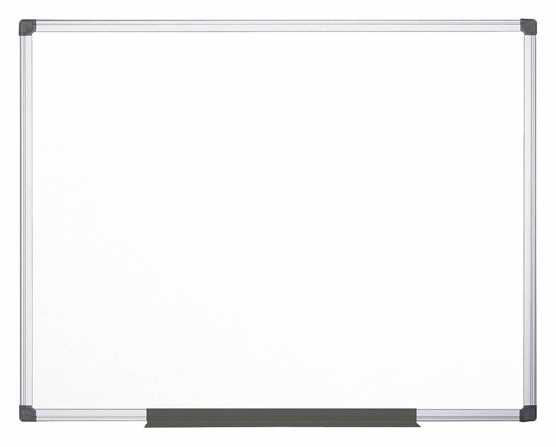 Matte-Finish Melamine Dry Erase Board, Wall Mounted, 35 13/32 inH x 59 inW, White
