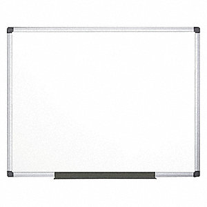 "Matte-Finish Melamine Dry Erase Board, Wall Mounted, 47-13/64""H x 70-51/64""W, White"