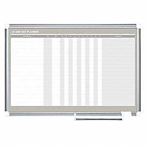 "In/Out Board,Gray Frame Color,24"" H"