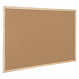"Push-Pin Bulletin Board, Cork, 23-39/64""H x 35-13/32""W, Natural"