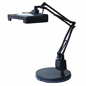 Magnifier Light,LED,Diopeter 3,Blk,19W