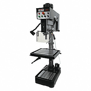 "2 Motor HP Floor Drill Press, Belt Drive Type, 10-7/16"" Swing, 120 Voltage"