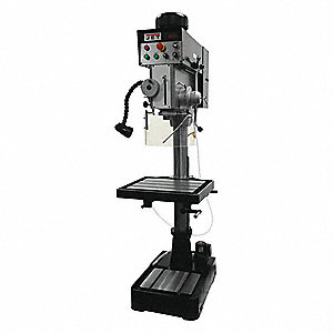 "2 Motor HP Floor Drill Press, Belt Drive Type, 20"" Swing, 460 Voltage"