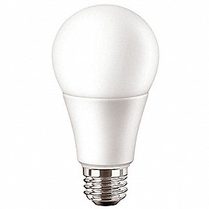 9.5 Watts LED Lamp, A19, Medium Screw (E26), 800 Lumens, 5000K Bulb Color Temp.