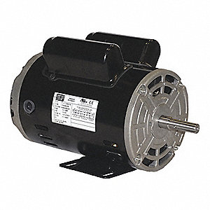 1/2 HP General Purpose Motor,Capacitor-Start,1745 Nameplate RPM,Voltage 115/208-230,Frame 48