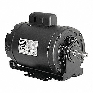 1 HP General Purpose Motor,Capacitor-Start,1750 Nameplate RPM,Voltage 115/208-230,Frame 56