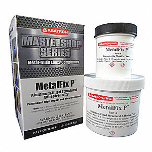 1 lb. Epoxy Putty with Temp. Range of 50° to 100°F, Gray