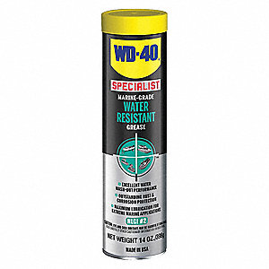 Specialist® Blue Lithium Complex Water Resistant Grease, 14 oz., NLGI Grade: 2