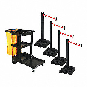 Barrier Systems, Post Black, 10 ft. Belt