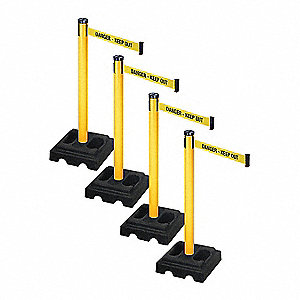 Barrier Systems, Post Yellow, 10 ft. Belt