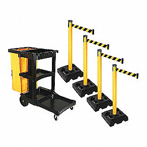 Barrier Systems,Post Yellow,10 ft. Belt