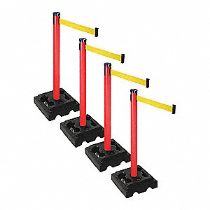 Barrier Systems,Post Red,10 ft. Belt