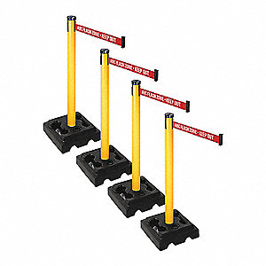 Barrier Systems, Post Yellow, 9 ft. Belt