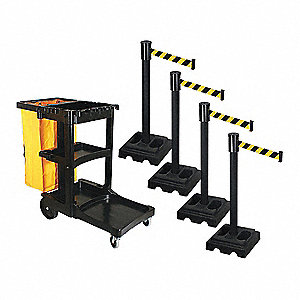 Barrier Systems,Post Black,15 ft. Belt