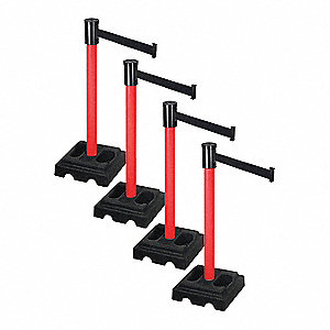 Barrier Systems,Post Red,15 ft. Belt