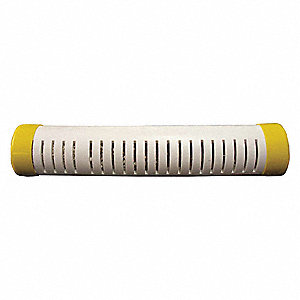 "Tank Shower Stick,White/Yellow,36"" L"