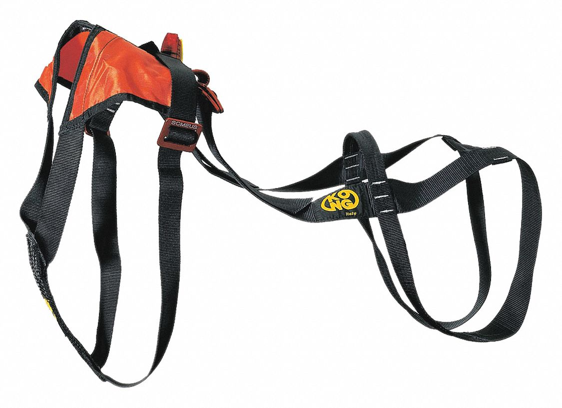 Lifting Harness,  Orange/Black,  24 in Length,  16 in Width,  Nylon Webbing,  For Use With Dogs