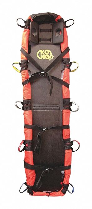 Stretcher,  72 in Length,  18 in Width,  8 in Height,  Orange,  660 lb Weight Capacity,  Aluminum