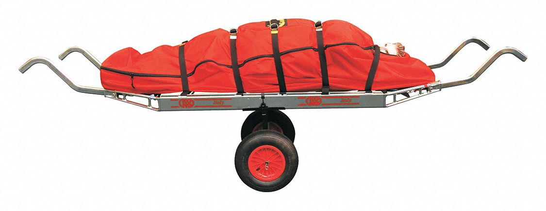 Basket Stretcher,  84 in Length,  30 in Width,  8 in Height,  Orange,  900 lb Weight Capacity